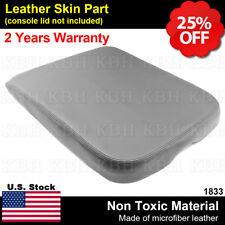 Armrest Center Console Lid Leather Synthetic Cover for Dodge Ram 02-08 Gray