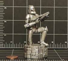 "Star Wars Chess Saga Edition silver Clone Trooper Pawn game part 3"" figurine 02"