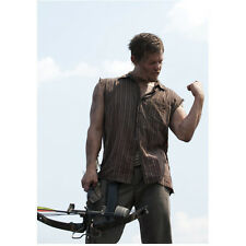 Norman Reedus in The Walking Dead as Daryl Cutoff Flexing 8 x 10 Inch Photo