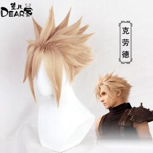 Hot Wig Final Fantasy VII Remake Cloud Strife Golden Cosplay Wig With Wig Cap