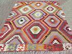 "Vintage Anatolia Barak Kilim, Floor Wool Rug, Handmade Rug Teppich 71x80"" Carpet"