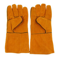 Cowhide Leather Welder Welding Gloves Security Protection Safety Heat Shield