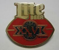 1992 Redskins Super Bowl XXVI 26 Miller Lite Beer Collector Pin With Backing