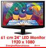 "60CM 24"" PROFESSIONAL TFT LED DISPLAY MONITOR VIEWSONIC VA2448 LED DVI & VGA"