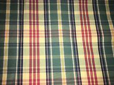 Tissu toile de coton écossais  larg 138 cm x H 30 réf A128
