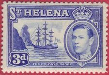 St Helena King George VI 1938 3d Blue - SG 135 MM/MH