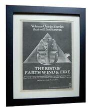 EARTH WIND & FIRE+September+POSTER AD+RARE+ORIGINAL+1978+FRAMED+FAST GLOBAL SHIP