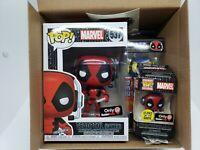 Funko Pop! Gamestop Exclusive Gamer Box Deadpool Gamer #537 Full Set Damaged