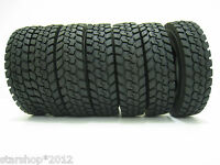 Rubber Tires  4 pcs For Tamiya 1:14 Tractor Truck Climbing for Collection
