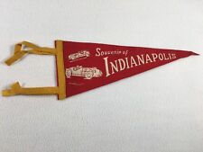 "Indianapolis Racing Car Pennant 11.5"" Vintage Travel Memorabilia Felt Souvenir"