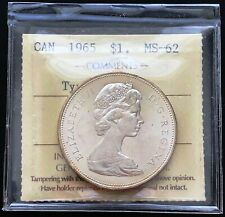 1965 Canada Silver Dollar ***ICCS Graded MS-62, Type V CAMEO*** Undergraded