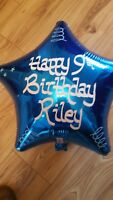 Personalised Helium Foil Balloon Christening, Birthday, Any Event