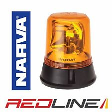 NARVA OPTIMAX HALOGEN ROTATING FLASHING BEACON 85650A FIXED BOLT 12V 24V AMBER