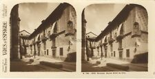 Espagne Grenade Granada Alhambra Hotel de ville Stereo Vintage argentique