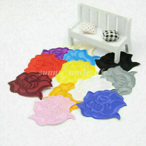 Embroidery Rose Flower Iron On Sew On Patch Badge Clothing Applique Multi Colors