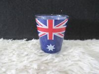 "Australian Blue and Red Flag 2.25"" Shot Glass, Collectible Home Decor, Barware"