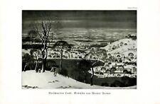 Verschneites Land Kunstdruck 1936 v. Werner Peiner † Leichlingen Schnee Winter +
