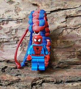 *LEGO FIGURE PARACORD BRACELET SUPERHERO COMIC DC MARVEL KIDS GIFT FREE UK P&P