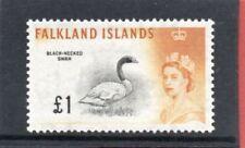 Pre-Decimal Lightly Hinged Birds Falkland Island Stamps