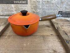 Le Creuset VULCANICA Arancione Ghisa Pentola 16 16cm buone condizioni