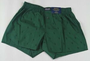 Ralph Lauren Classic Fit Green Multi Navy Pony Boxer Shorts NWT