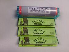 RIZLA+ KING SIZE CIGARETTE ROLLING MACHINE & 3 PKS ZIG ZAG KING SIZE HEMP PAPERS