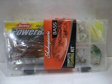 Shakespeare Bass Complete Fishing Kit assortment plus plastic tackle box New