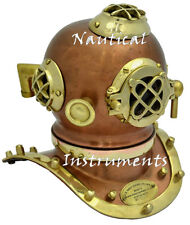 Antique Scuba Brass Diving Helmet US Navy Mark V Deep Sea Marine Divers