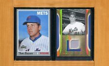 TOM SEAVER-2004 SP Leg. Cuts Jersey Swatch & 2012 Topps Archives Reprint