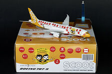 "Scoot B787-9 Dreamliner Reg: 9V-OJE ""50th""  JC Wings 1:200 Diecast Models XX2361"