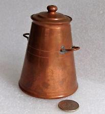 "Mini copper milk can churn 3"" ornament or dolls farm house kitchen miniature"