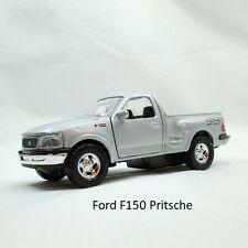 Ford F150 1997 Farbe Silbermetallic Lizenz Miniatur Rückzugsmotor L115xB42xH52mm