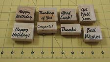 Stampin Up Bold & Basic Greetings Stamp Set of 8 Birthday Holidays Thanks