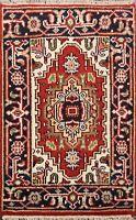 Medallion Handmade Heriz Geometric Oriental Area Rug Traditional Wool Carpet 2x3