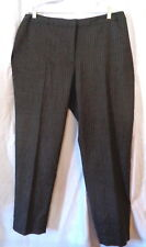 NWT TALBOTS Gray Pinstriped Dress Pants  Sz 18W 31 Plus Heritage $159 Wool Blend
