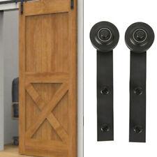 2pcs Rustic Bypass Sliding Barn Door Hardware Double Track Big Wheel Hanger Kit