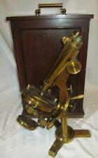 Ex RARE R & J Beck Brass The International Improved Large Best Microscope c1880