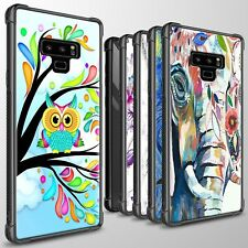 For Samsung Galaxy Note 9 Slim Fit Tempered Glass Phone Case Hard Cover