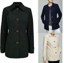 Button Classic Neckline Outdoor Coats & Jackets for Women