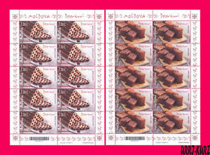 MOLDOVA 2020 Traditional Cuisine Food Meal Dessert Cake Muffin Pie 2 m-s MNH