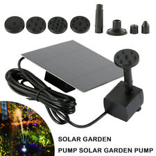 Solar Panel Powered Water Fountain 200L/H Feature Pump Garden Pool Pond Aquarium