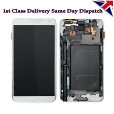 Per Samsung Galaxy Note 3 N9005 display LCD touch screen digitizer + frame Bianco