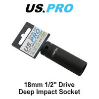 US PRO 18mm 1/2 Dr 6pt Deep Impact Socket 2089