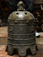 Rare China Antique Bronze Beast Dragon Loong Ancient Works Bell Clang Gong Clock