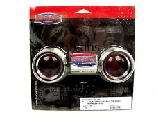 Kuryakyn Deep Dish Bezels with Lenses for Bullet Turn Signals  Red