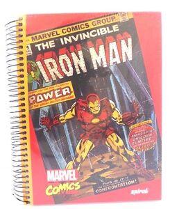 Marvel Comics Invincible Iron Man HUGE Hardcover Spiral 400 Page Sheet Notebook