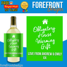 Personalised House warming gift bottle label, Perfect present for any occasion