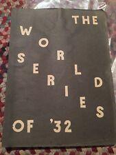 Chicago Cubs 1932 WORLD SERIES SCRAPBOOK SIGNED Burliegh Grimes Gabby Hartnett..