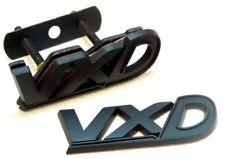 vxd badge set negro mate maletero REJILLA DELANTERA VAUXHALL NO CROMO VXR