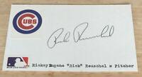 Vintage Chicago Cubs 1972-84 Rick Reuschel Autograph Index Card
